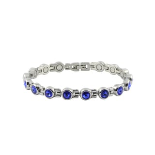 Sapphire Magnetic Round Bracelet