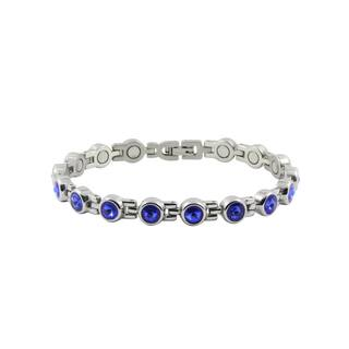 Sapphire Magnetic Round Bracelet|https://ak1.ostkcdn.com/images/products/12289697/P19118253.jpg?impolicy=medium