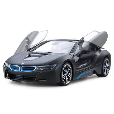 Rastar 1:14 Matt Black BMW i8 USB Charger 2.4GHz