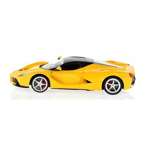 Rastar Yellow 2.4 GHz 1:14 Scale Ferrari LaFerrari Model With USB Charger