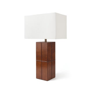 Square Leather Table Lamp