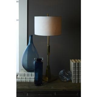 Hip Vintage Bennett White Brass Table Lamp
