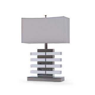 Hip Vintage Claro White/Silver Nickel Table Lamp