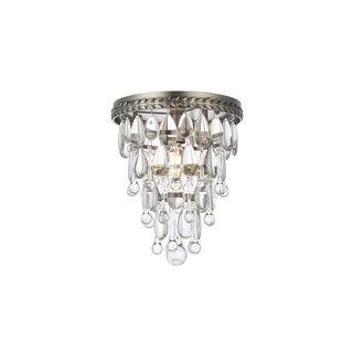 Somette Cloverly Collection Antique Silver Royal Cut Ceiling Light