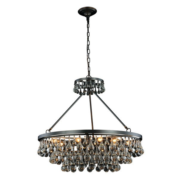 Somette Monessen Collection Bronze Royal Cut Pendant Lamp