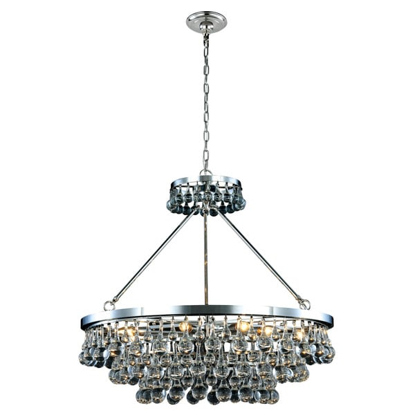 Somette Monessen Collection Polished Nickel Royal Cut Pendant Lamp