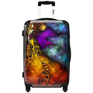 iKase 'Beauty and The Beast' 20-inch Fashion Hardside Carry-on Spinner Suitcase