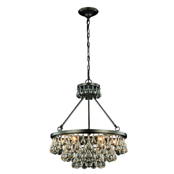 Somette Monessen Collection Bronze Royal Cut Pendant Lamp