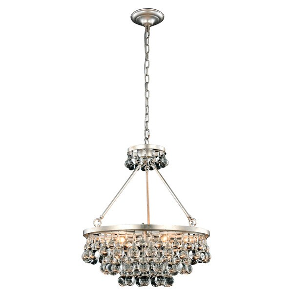 Somette Monessen Collection Silver Leaf Royal Cut Pendant Lamp