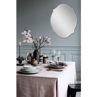 Fallon & Rose 'Louna' All-glass Oval Wall Mirror