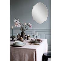 'Louna' All-glass Oval Wall Mirror