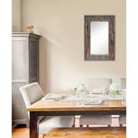 Chola Framed Rectangular Wall Mirror - Grey