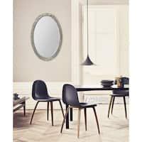 Fallon & Rose 'Tilia' Framed Oval Wall Mirror - Silver