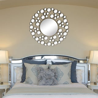 'Allurre' Framed Round Wall Mirror