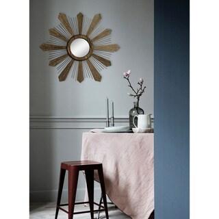Fallon & Rose Aurora Bronze Metal Framed Round Wall Mirror