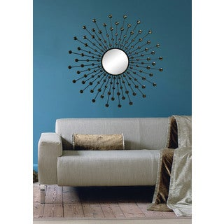 Fallon & Rose 'Carnelia' Framed Round Wall Mirror