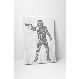 Jackie Star Wars Quotes 'Stormtrooper' Gallery Wrapped Canvas Wall Art
