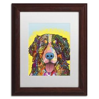 Dean Russo 'Bernese Mountain Dog' Matted Framed Art