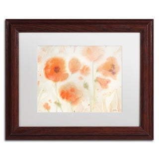 Sheila Golden 'Orange Tones' Matted Framed Art