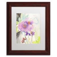 Sheila Golden 'Mauve Garden Shadows' Matted Framed Art