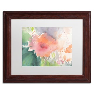 Sheila Golden 'Coral Blossom' Matted Framed Art (2 options available)