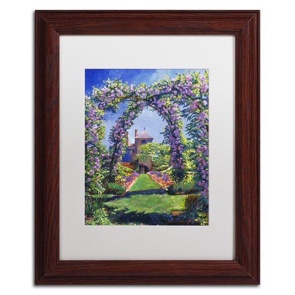 David Lloyd Glover 'English Rose Arbor' Matted Framed Art