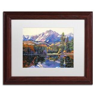 David Lloyd Glover 'Painter's Lake' Matted Framed Art