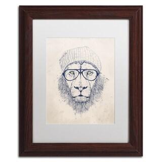 Balazs Solti 'Cool Lion' Matted Framed Art