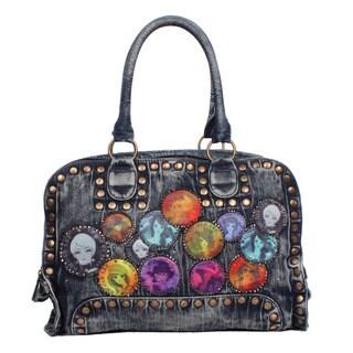NIcole Lee Muneca Patch Print Multicolored Cotton/Nylon Boston Handbag