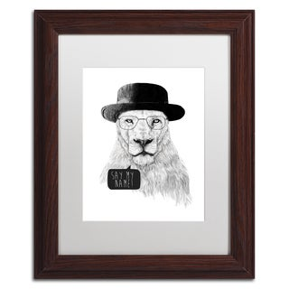 Balazs Solti 'Say My Name' Matted Framed Art