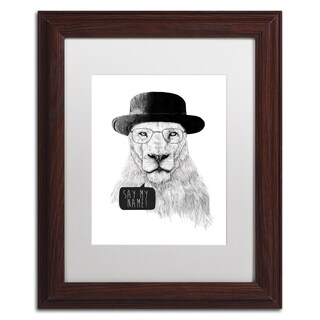 Balazs Solti 'Say My Name' Matted Framed Art (2 options available)