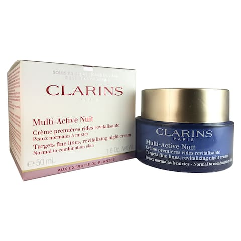 Clarins Multi-Active Nuit Revitalizing 1.6-ounce Night Cream Normal Combination Skin - White