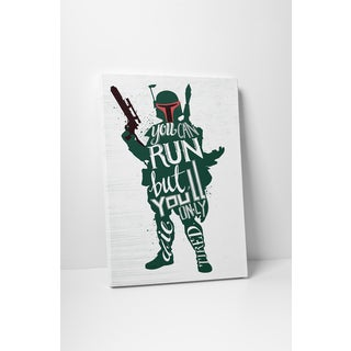 Jackie Star Wars Quotes 'Boba Fett' Gallery-wrapped Canvas Wall Art