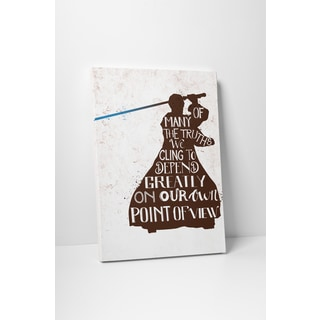 Jackie Star Wars Quotes 'Obi Wan Kenobi' Gallery-wrapped Canvas Wall Art
