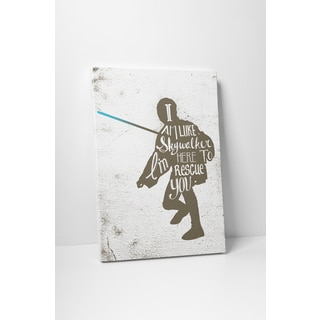 Jackie Star Wars Quotes 'Luke Skywalker' Gallery Wrapped Canvas Wall Art