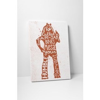 Jackie Star Wars Quotes 'Jar Jar Binks' Gallery Wrapped Canvas Wall Art