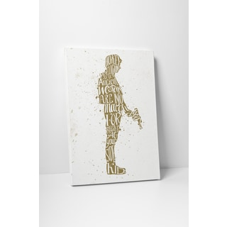 Jackie Star Wars Quotes 'Han Solo' Gallery Wrapped Canvas Wall Art