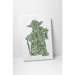 Jackie Star Wars Quotes 'Yoda' Gallery Wrapped Canvas Wall Art