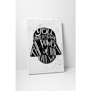 Jackie 'Star Wars' Quote 'Darth Vader' Gallery-wrapped Canvas Wall Art