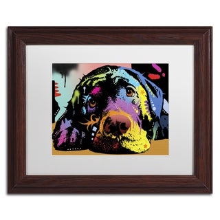 Dean Russo 'Lying Lab' Matted Framed Art