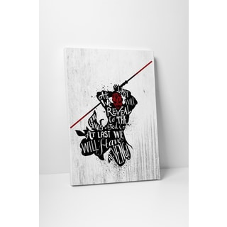 Jackie Star Wars Quotes 'Darth Maul' Gallery-wrapped Canvas Wall Art