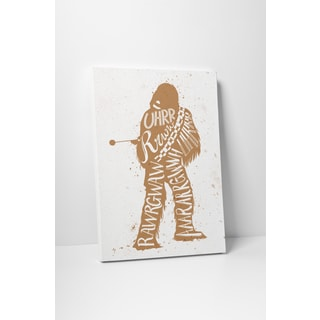 Jackie Star Wars Quotes 'Chewbacca' Gallery Wrapped Canvas Wall Art