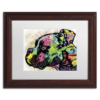 Dean Russo 'Profile Boxer Deco' Matted Framed Art
