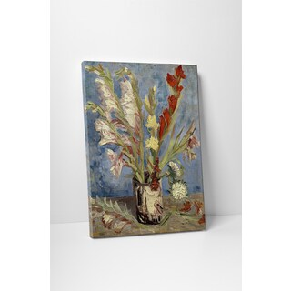 Classic Masters Vincent Van Gogh 'Vase with Gladioli and China Asters' Gallery Wrapped Canvas Wall Art