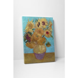 Classic Masters Vincent Van Gogh 'Sunflowers' Gallery Wrapped Canvas Wall Art