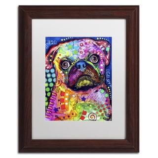 Dean Russo 'Pug 92309' Matted Framed Art