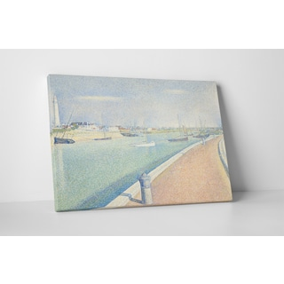 Classic Masters Georges Seurat 'The Channel at Gravelines' Gallery-wrapped Canvas Wall Art