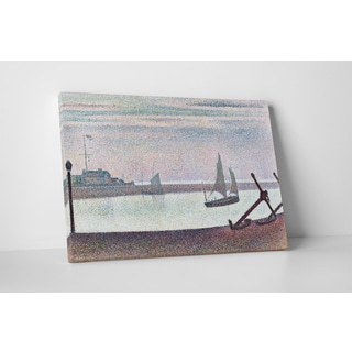 Classic Masters Georges Seurat 'The Channel at Gravelines, Evening' Gallery-wrapped Canvas Wall Art
