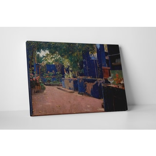 Classic Masters Rubens Santiago Rusinol 'Blue Courtyard' Gallery-wrapped Canvas Wall Art