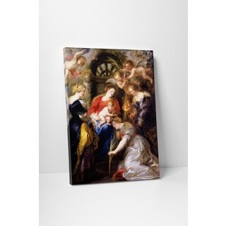 Classic Masters Peter Paul Rubens 'Crowning of Saint Catherine' Gallery-wrapped Canvas Wall Art